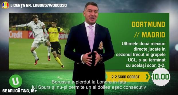 Dortmund-Madrid: pariu curajos de cota 10,00, bazat pe statistici