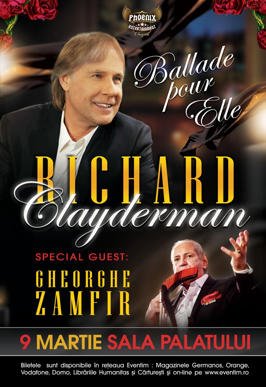 Richard Clayderman aduce la București Balade pour elle, o producție extraordinară dedicată zilei femeii