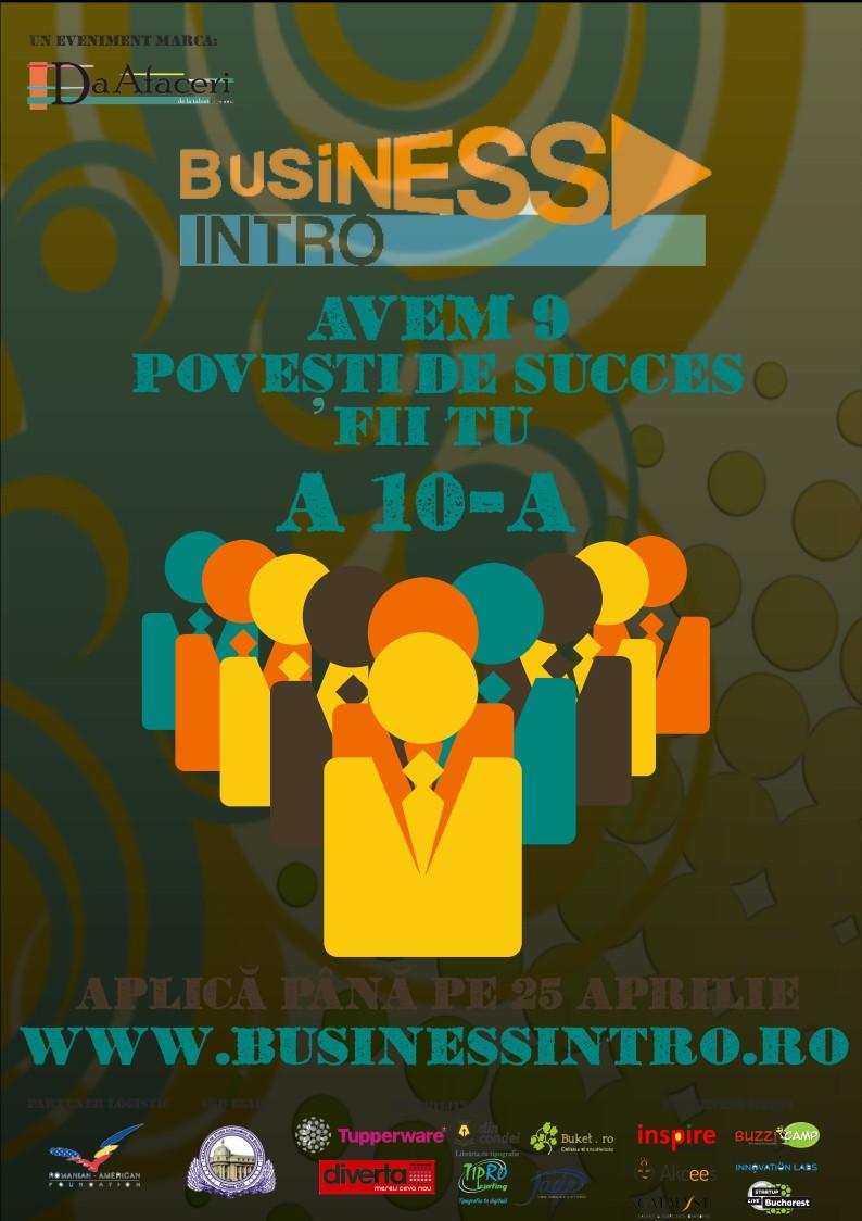 Business Intro: Tu conturezi a 10-a poveste!
