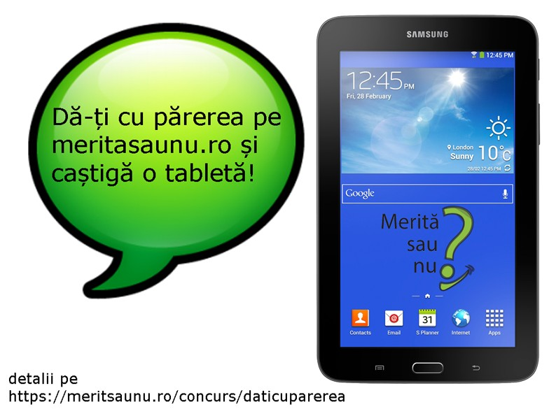 Da-ti cu parerea si castiga o tableta Samsung!