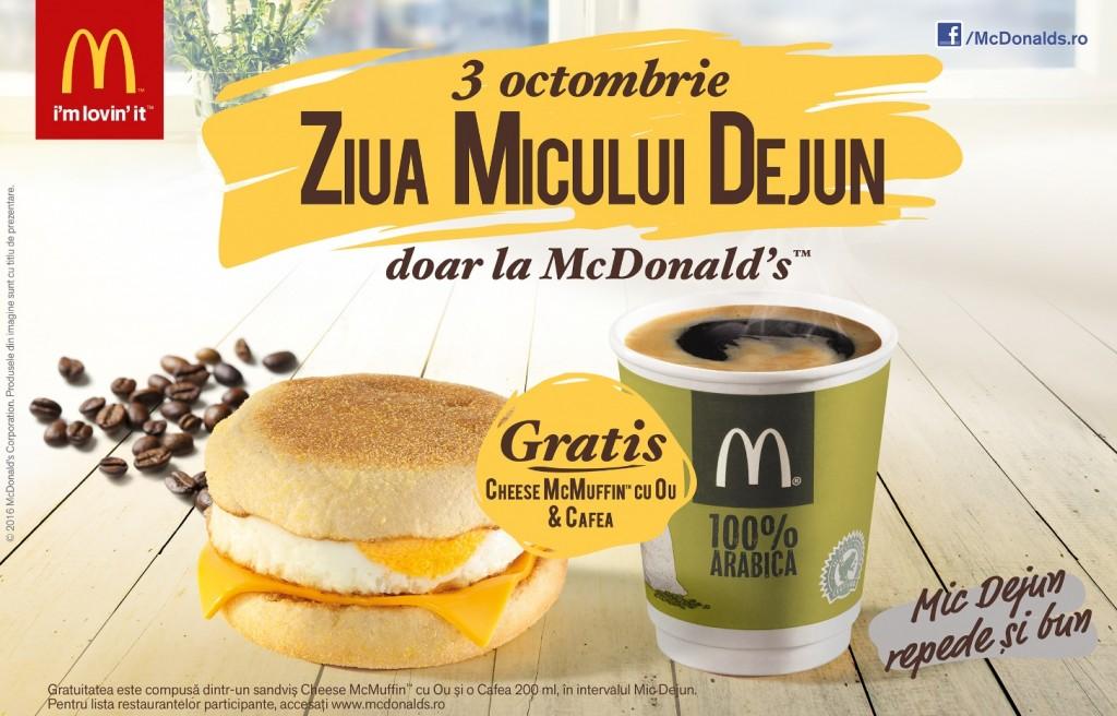 McDonald's e Gata de Bună Dimineața  și face cinste de Ziua Micului Dejun