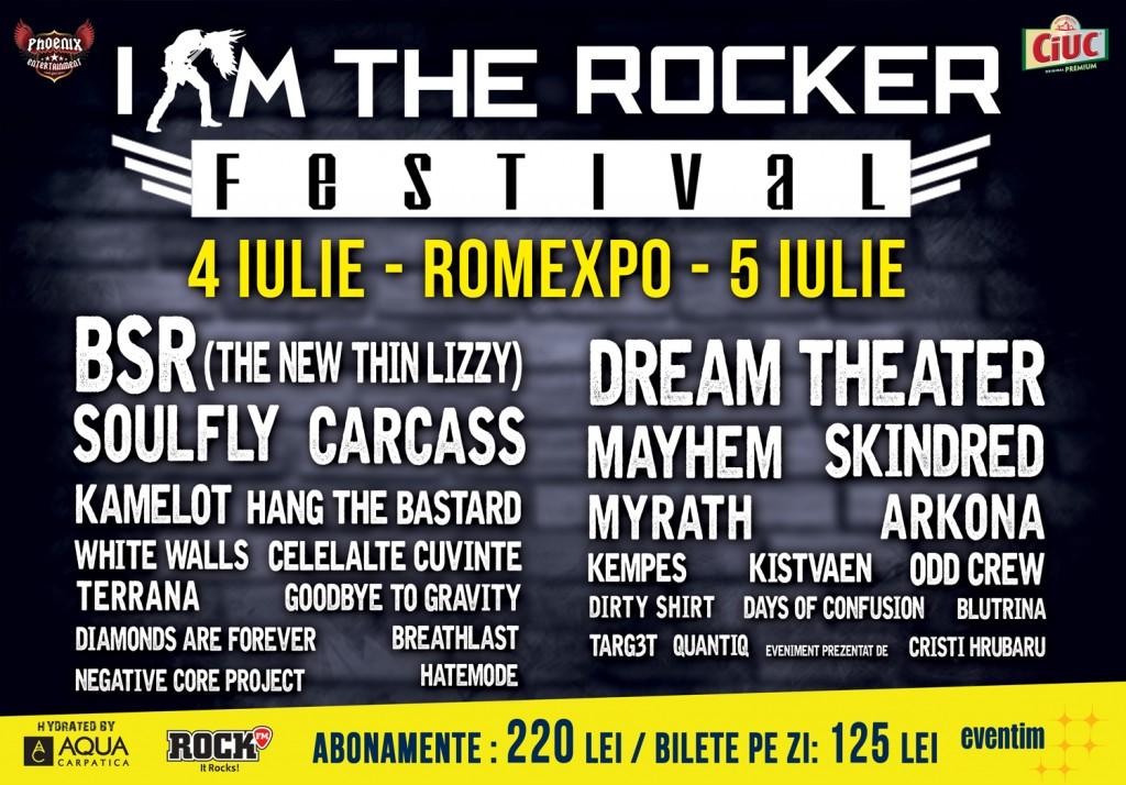 Festivalul I AM THE ROCKER anunță suplimentarea biletelor pe zile precum și programul evenimentului