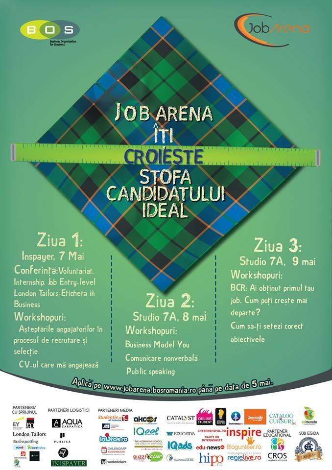 Business Organization for Students organizeaza cea de-a doua editie JobArena