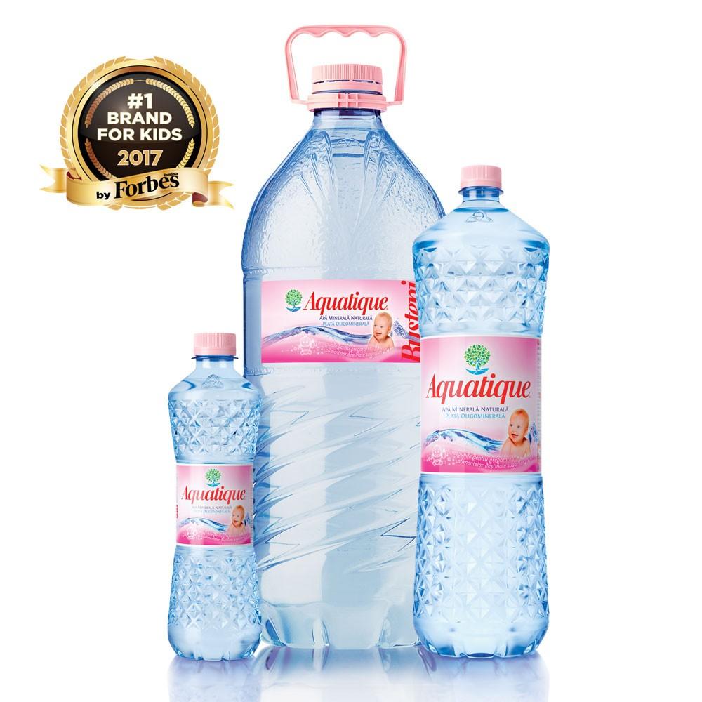 Aquatique, cea mai bună apă minerală plată pentru sugari și copii mici