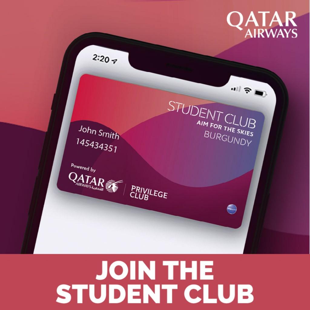 Studentii au pana la 20% reducere la Qatar Airways!