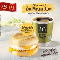 McDonald's îți face cinste de Ziua Micului Dejun