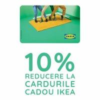 10% reducere la cardurile cadou IKEA pentru studenți, profesori și tineri