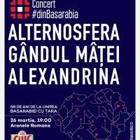 Alternosfera, Alexandrina şi Gândul Mâţei, la o nouă ediţie a Concertului #dinBasarabia