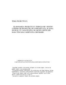 Elaborarea Proiectului Tehnologic pentru o Ferma de Productie de Ovine,Situata in Zona de Deal cu Capacitatea de 180 de Capete din Rasa Turcana,Varietatea Brumarie - Pagina 2