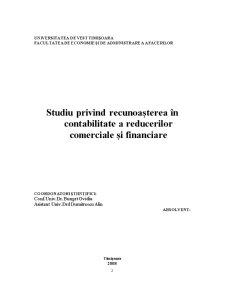 Studiu Privind Recunoașterea în Contabilitate a Reducerilor Comerciale și Financiare - Pagina 2