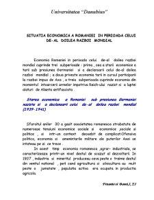 Situatia Economica a Romaniei in Perioada Celui de-al Doilea Razboi Mondial - Pagina 2
