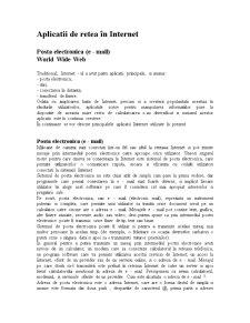 Aplicatii de retea în internet - Pagina 1