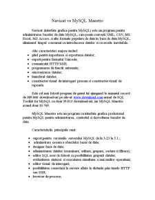 MySQL Tools - Navicat vs SQL Maestro - Pagina 1