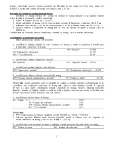 Contabilitatea și Fiscalitatea Contractelor de Leasing - Pagina 2