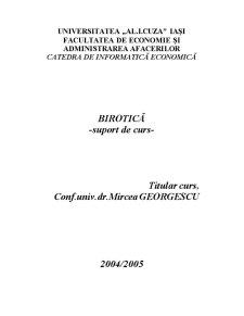 Birotică - Pagina 1