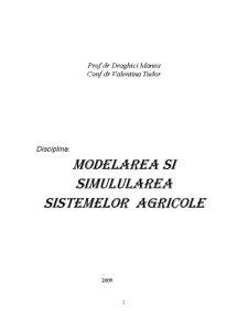 Modelarea și Simularea Sistemelor Agricole - Pagina 1