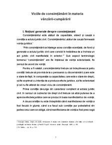 Viciile de Consimțământ în Materia Vânzării - Pagina 3