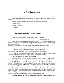 Creația Monetară a Băncilor Comerciale - Pagina 1