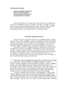 Funcțiile Pieței de Capital - Pagina 1