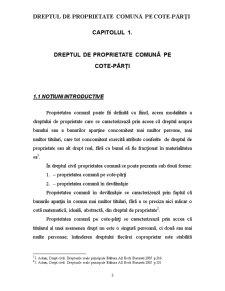 Dreptul de Proprietate Comună pe cote-părți - Pagina 3