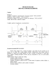 Microtuneluri - Metoda Tuburilor Impinse - Pagina 1