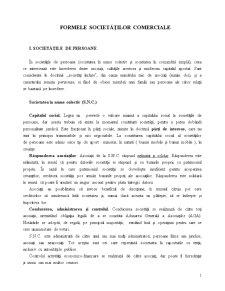 Formele Societăților Comerciale - Pagina 1