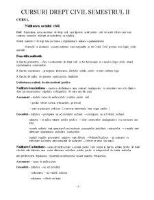 Drept Civil Anul 1 Semestrul 2 - Pagina 1