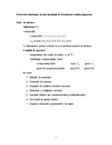 Proiectul Tehnologic al unei Instalații de Fracționare Multicomponent - Pagina 3