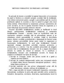 Metode Formative de Predare a Istoriei - Pagina 1