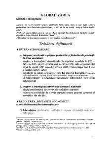 Globalizarea - Pagina 1
