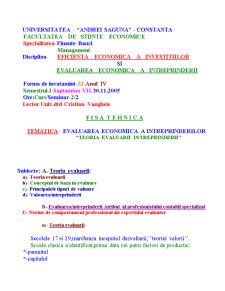 Evaluarea Economica a Intreprinderilor - Pagina 1