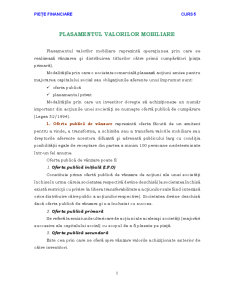 Piete Financiare - Curs 5 - Pagina 1