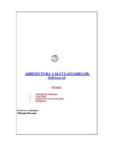 Arhitectura Calculatoarelor - Software-ul - Pagina 1