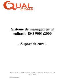 Sisteme de Managementul Calitatii - ISO 9001-2000 - Pagina 1