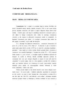 Comunicare Mediatizata - Pagina 1