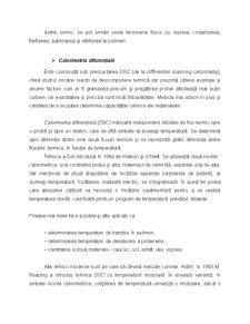Metoda de Caracterizare a Polimerilor - Analiza Termica - Pagina 2