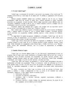 Managementul Proiectelor - Cadrul Logic - Pagina 1