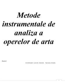 Metode Instrumentale de Analiza a Operelor de Arta - Pagina 1