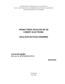 Proiectarea Aplicatiilor de Comert Electronic - Aplicatie de Food-Ordering - Pagina 1