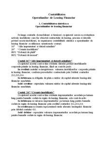 Contabilitatea Operatiunilor de Leasing Financiar - Pagina 1