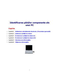 Identificarea Părților Componente ale unui PC - Pagina 1