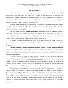 Auditul Performantei Sistemului de Educatie Asistata de Calculator la Liceul Teoretic Nicolae Titulescu - Pucioasa - Pagina 3