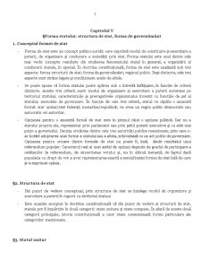 Forma Statului - Structura de Stat, Forma de Guvernamant - Pagina 1