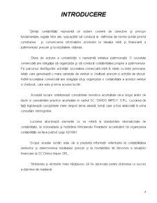 Particularitati privind Contabilitatea Activitatii de Service si Prezentarea Situatiilor Financiare la SC Dimos Impex SRL - Pagina 4