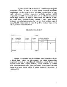 Registre de Contabilitate - Pagina 3