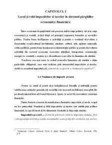 Locul și Rolul Impozitelor și Taxelor în Sistemul Pârghiilor economico-financiare - Pagina 1