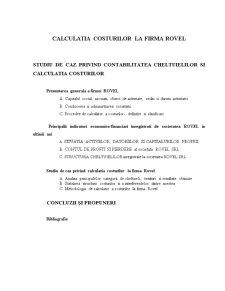 Calculatia Costurilor la Societatea Comercială Rovel SRL Ploiești - Pagina 2