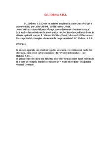 Proiect Bazele Informaticii - SC Hellena SRL - Pagina 1