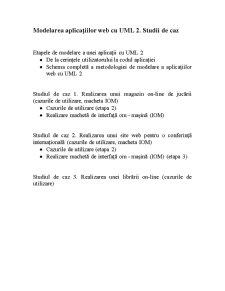 Modelarea Aplicațiilor Web cu UML 2 - Pagina 1