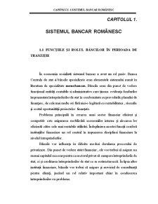 Sistemul Bancar Românesc - Pagina 1